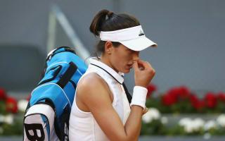 Rome retirement deals a blow to Muguruza's French Open build-up