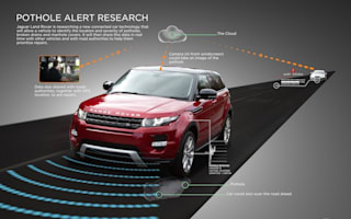Jaguar Land Rover develops pothole detection system