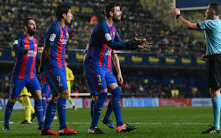 Furious Pique stands by referee criticism after alleged Tebas gesture