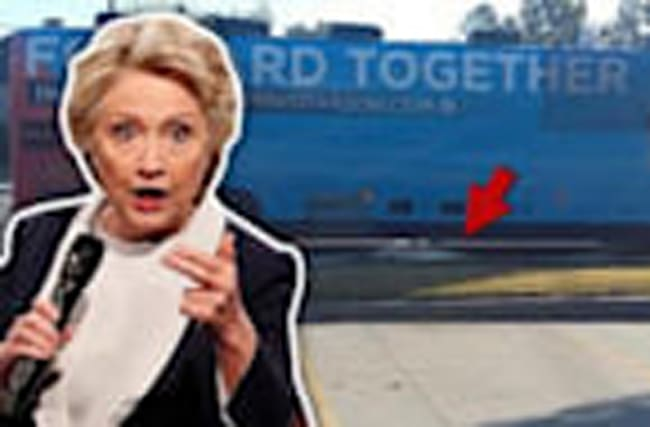 Clinton Campaign Bus Investigated For Street Dump