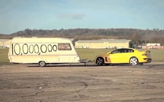 Video: Top Gear blows up caravan to celebrate 10m Facebook fans