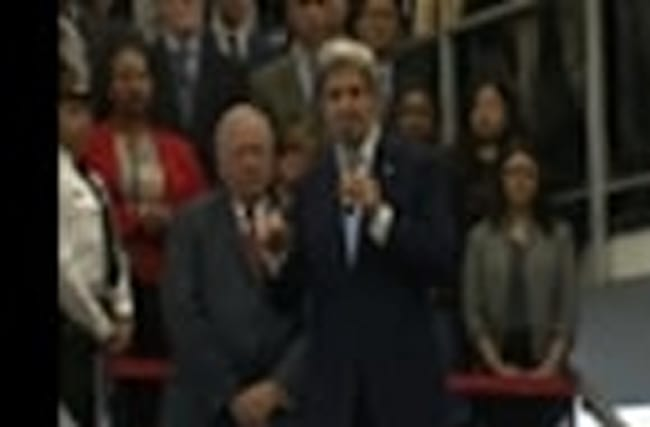 Kerry Bids Optimistic Goodbye at State Dept.
