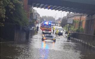 Jaguar owner drives £50k sports car into giant puddle
