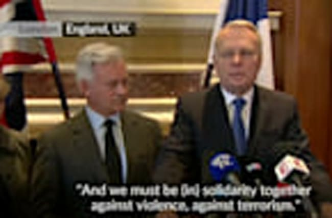 France's Ayrault delivers a message of compassion to the UK
