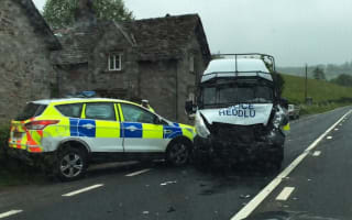Investigation launched after police car collision