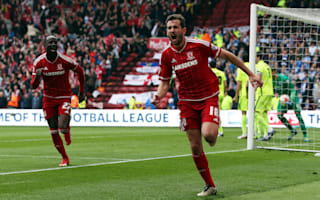 Middlesbrough 1 Brighton and Hove Albion 1: Stuani goal enough to seal promotion to Premier League