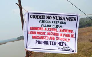 Village in Goa bans public kissing