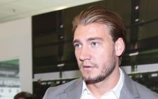 Bendtner in training at FC Copenhagen