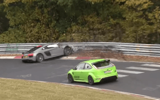 Second-generation Audi R8 suffers heavy crash at the Nurburgring