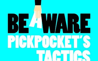 The pickpockets' tricks, and how to beat them