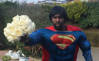 Carlton Cole swoops in as Superman to deliver Valentine's Day roses