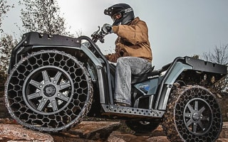 Polaris unveils 'airless' tyres for off-road vehicles