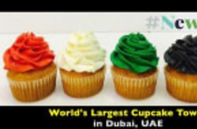 World's Tallest Cupcakes Tower Unveiled in Dubai, UAE