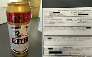 Worker disciplined over 'beer can', turns out it's a sex toy