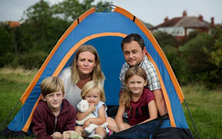 Tornado throws tent - and three children - 30ft across camping field