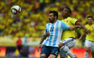 Argentina forward Lavezzi suffers hamstring scare