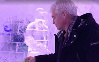 Phillip Schofield downs 10 shots in a row on holiday at ice hotel