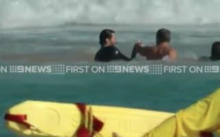 Hugh Jackman rescues son from rip tide at Bondi Beach