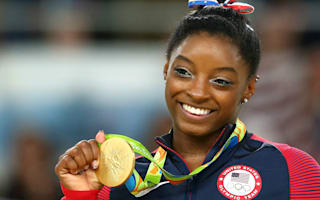 Gymnast Biles wins Laureus Sportswoman of the Year