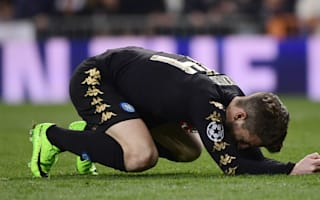 Mertens rues missed chance but backs Napoli to fight back in Madrid tie