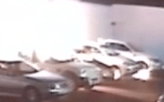 Fuel thief starts car park inferno