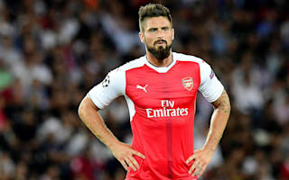 Arsenal without Giroud for EFL Cup quarter-final