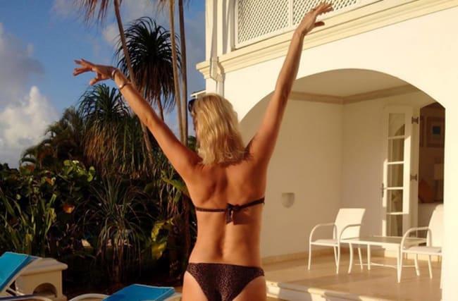 Denise Van Outen slips into bikini before Kimberley Walsh's wedding