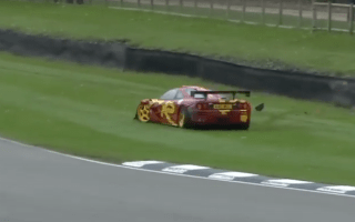 Pink Floyd's Nick Mason crashes rare McLaren at Goodwood