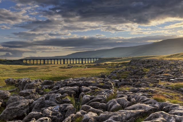 Network Rail 'Lines in the Landscape' Award - Winner: Francis Taylor - Sunshine breaks through, Ribblehead Viaduct, North Yorkshire