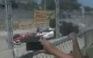 Dario Franchitti crash caught on cameraphone