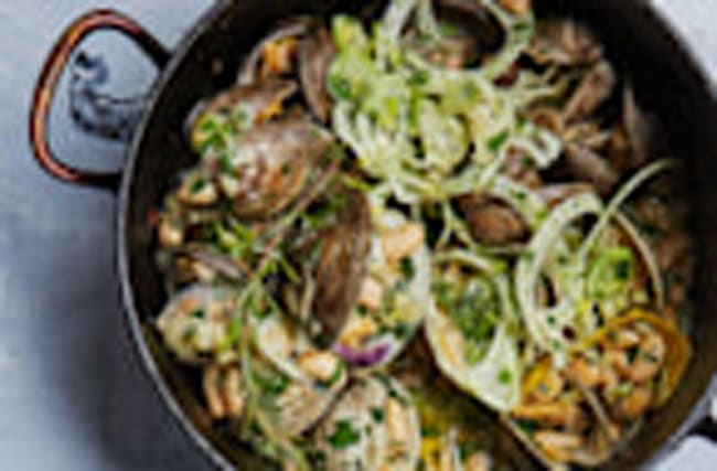 Clams in White Bean Sauce