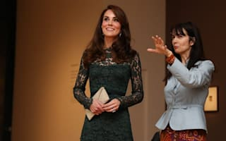 Kate ponders life on the school run as she meets guests at gallery
