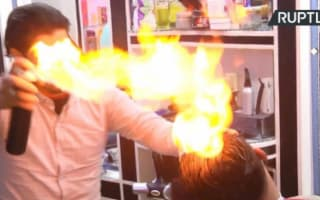 Gaza's 'fire barber' brings the heat to haircutting