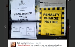 Woman gets parking ticket: after council moves her car onto double yellow lines