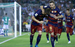 Barcelona v Espanyol: Alba insists champions do not fear another 'Tamudazo'
