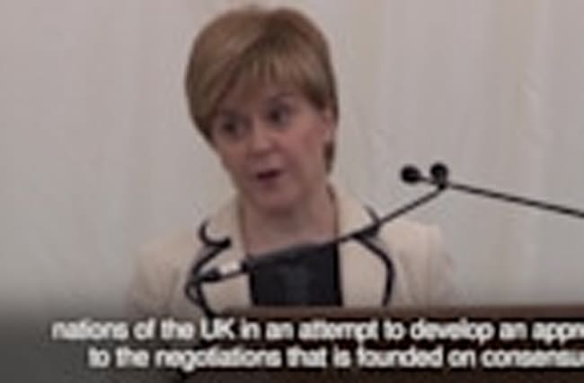 Nicola Sturgeon: UK Government has no clear plan for Brexit negotiations