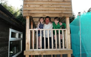 Dad forced to demolish the playhouse he built for his children