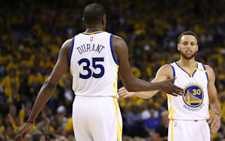 Curry, Durant say Warriors' perfect record counts for nothing yet