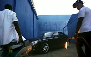 Video: Jay-Z' and Kanye West's trashed Maybach sells for £38,000