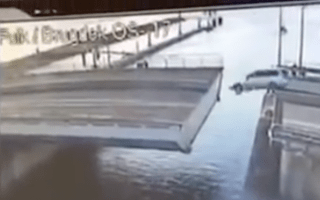 Man's attempt to jump over retracting bridge ends in disaster
