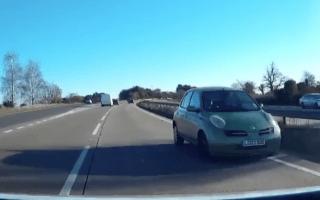 Elderly driver filmed going wrong way down dual carriageway