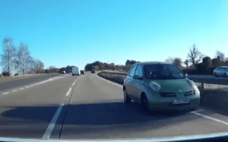 Elderly driver filmed going wrong way down dual carriageway