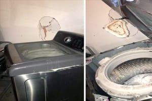 ¡Boom! Algunas lavadoras Samsung también están explotando