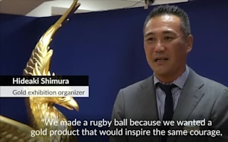 Gold rugby ball on sale in Tokyo for £273,867