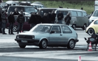 1010bhp Volkswagen Golf takes to the drag strip