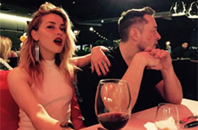 Cheeky snap suggests Amber Heard and Elon Musk are 'a thing'