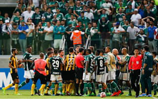 Melo among four suspended after Penarol-Palmeiras brawl