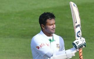 Shakib ton put Tigers in control despite Herath's 1,000th first-class wicket