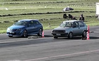 Boba fettled old Golf is as quick as Bugatti Veyron (video)