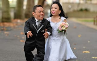 The world's shortest married couple has been verified by the Guinness Book of World Records